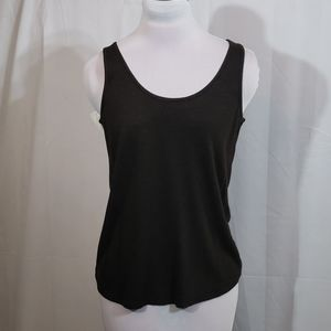 NWT Eileen Fisher Peat Scoop Neck Tank Small